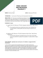pst assignment  worksheet standard 1