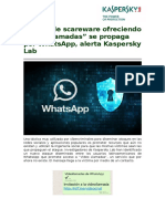 Falsas Video Llamadas Por Whatsapp