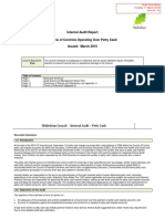 10 Y Petty Cash Final Audit Report
