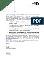 Dallas ISD Zumwalt Letter to parents/guardians