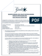 Vail Green Business of the Year application