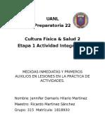 Cultura física y Salud 2 Integradora 1