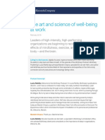The Art and Science of Well Being at Work