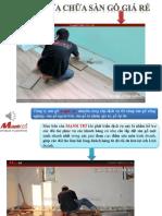 Sửa chữa sàn gỗ giá rẻ