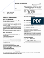 510 Leed Product Submittal Data Form