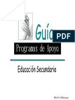 Guia de Programas de Apoyo Para La Educacion Secundaria