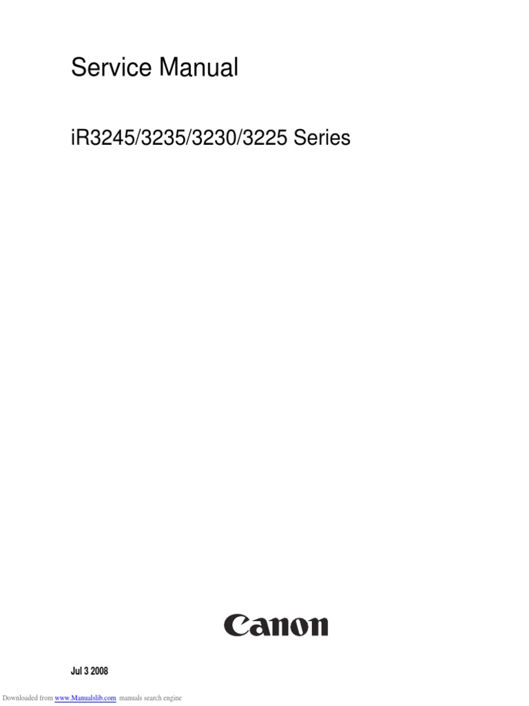 Canon IR3245_iR3225_iR3230_iR3235 Series Service Manual | Signal  (Electrical Engineering) | Charge Coupled Device