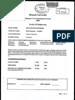 Fluid Mechanics Exam Paper