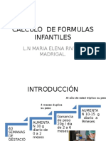 Calculo de Formulas Lacteas