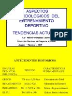 Aspectos Novedosos Tendencias Del Entrenamiento.