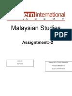 Assignment 2 Malaysian Studies