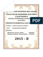Proyecto Domotica Con Arduino Informe PDF