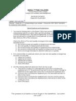 Macroecon Diagnostics Exam