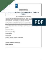 ICS Team Leader Personal Health Form