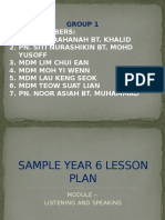 Year 6 Lesson Plan 2015