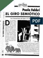 El giro semiótico (pdf completo)  - Paolo Fabbri