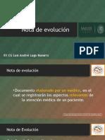 Nota de Evolución