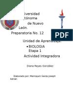 Etapa 1;Actividad Integradora (Biologia)