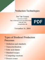 Biodiesel Production Technologies-VanGerpen 2p Presentation