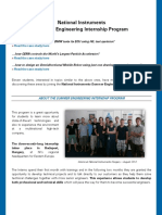 National Instruments Eastern Europe Summer Engineering Internship
