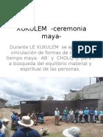 Ceremonia Maya, contenido.