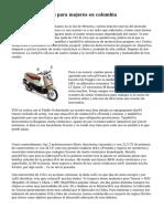imagenes de motos para mujeres en colombia