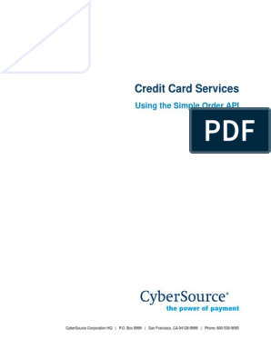 Credit Cards SO API | Debit Card | Credit Card