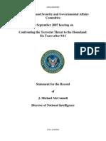 Senate Homeland Security and Governmental Affairs