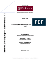Aksoy Leading Relationships and Monetary Policy