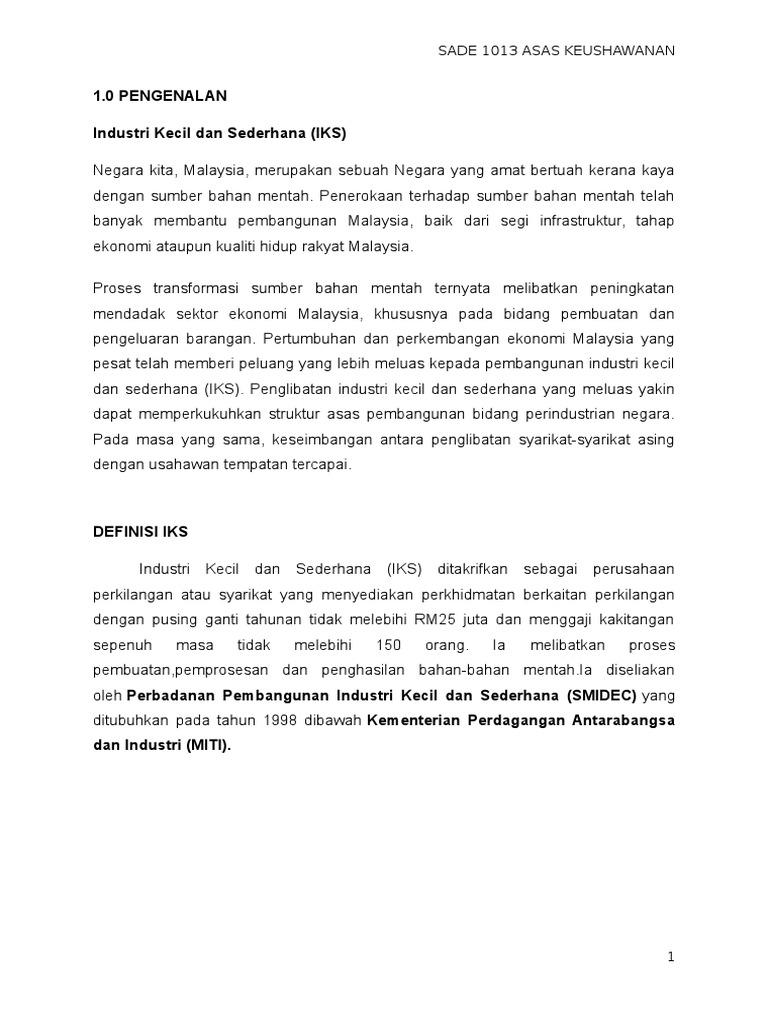 Abm 05 1 Industri Kecil Dan Sederhana