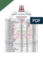 Ndejje University Jan Admission List-2016