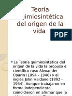Teoría Quimiosintética Del Origen de La Vida