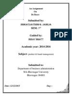 De Beers Assignment of Branding.pdf