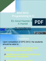 programming in C- Sdlc