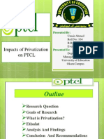 Privatization Impacts on PTCL