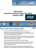 Nationwide Suspicious Activity [SAR] Reporting Initiative [NSI]