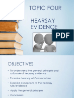 BLW 2101 Hearsay Evidence Notes