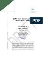 CDG IRT Coverage Exchange Requirements