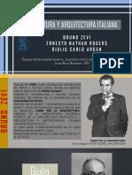 CULTURA Y ARQUITECTURA ITALIANA