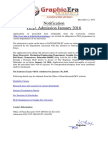 PhD Admission Notification Jan 2016