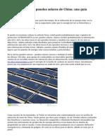 C?mo importar los paneles solares de China