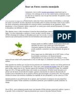 Las ventajas de utilizar un Forex cuenta manejada