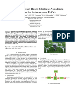 Research related to obstacle avoidance techniques for unmanned aerial vehicles