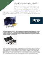 Consejos para el manejo de los paneles solares port?tiles