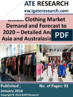 Global Clothing Market Demand and Forecast to 2020 – Detailed Analysis of Asia and Australasia Market