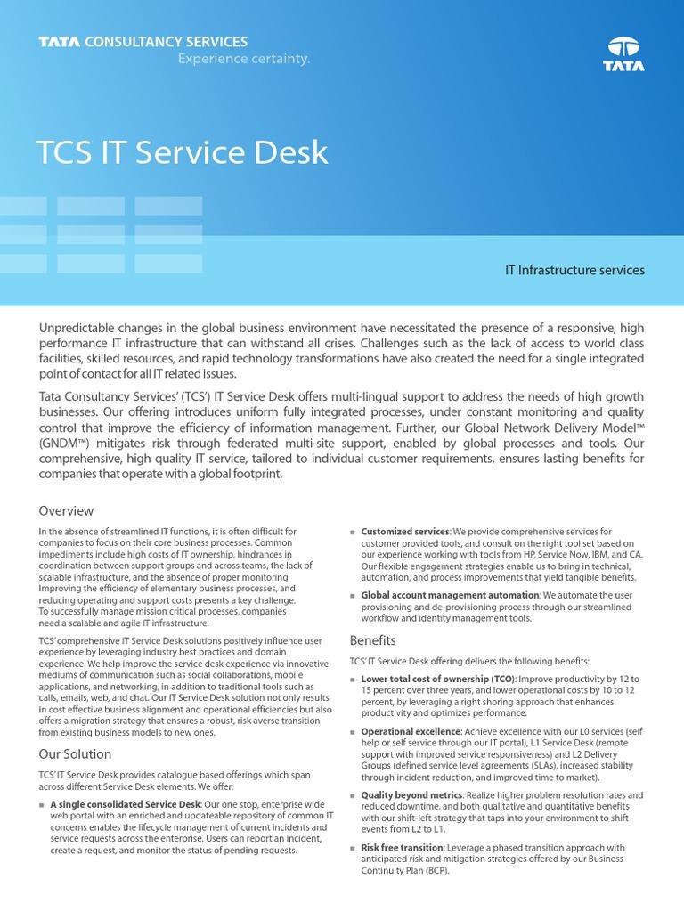 IT Service Desk Offerings 0914 1.pdf | Itil | Business Process