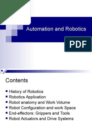 Basic Concepts of Robotics   Transmission (Mechanics)   Automation