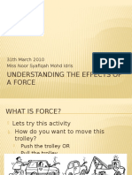 Understanding the Effects of a Force - PHYSICS FORM 4