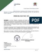 ORD-DIA 29-2016 RESTITUCIÒN C.NUÑEZ