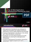 Top 10 Web Application development Frameworks 2016